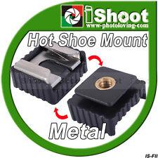 Metal Hot Shoe Mount Adapter for Flash Holder/Bracket&Canon 580EX II/430EX/550EX
