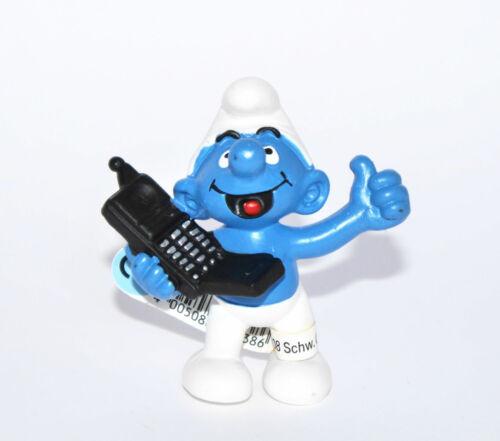 """20438-/""""Handyschlumpf/""""-/""""Mobile Phone Smurf/""""-Schleich-NEU*Fähnchen-NEW *tag!!"""