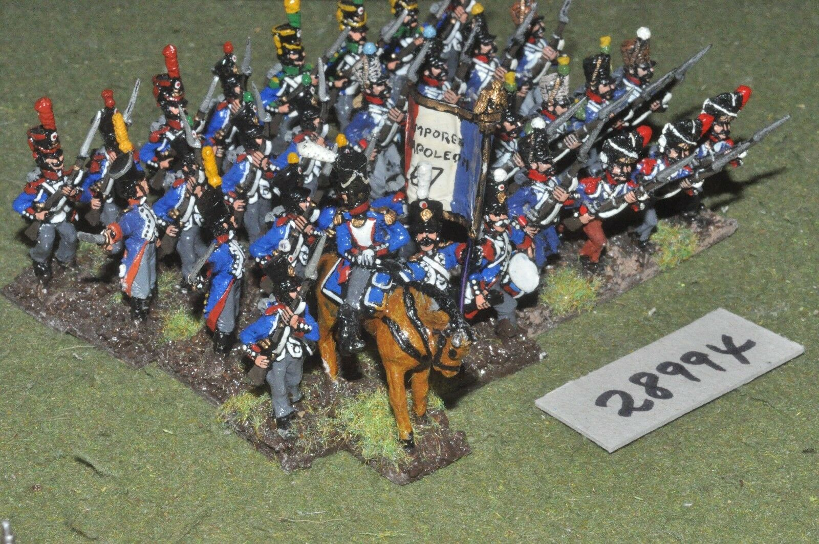 25mm napoleonic   french - line 32 figures - inf (28994)