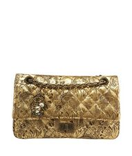 Chanel 2.55 Moscow Collection Limited Edition Gold Quilted Leather Shoulder Bag