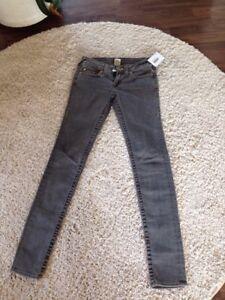 True Religion Zustand Jeans Top Grau Stella Gr28 Y6vbf7yIg