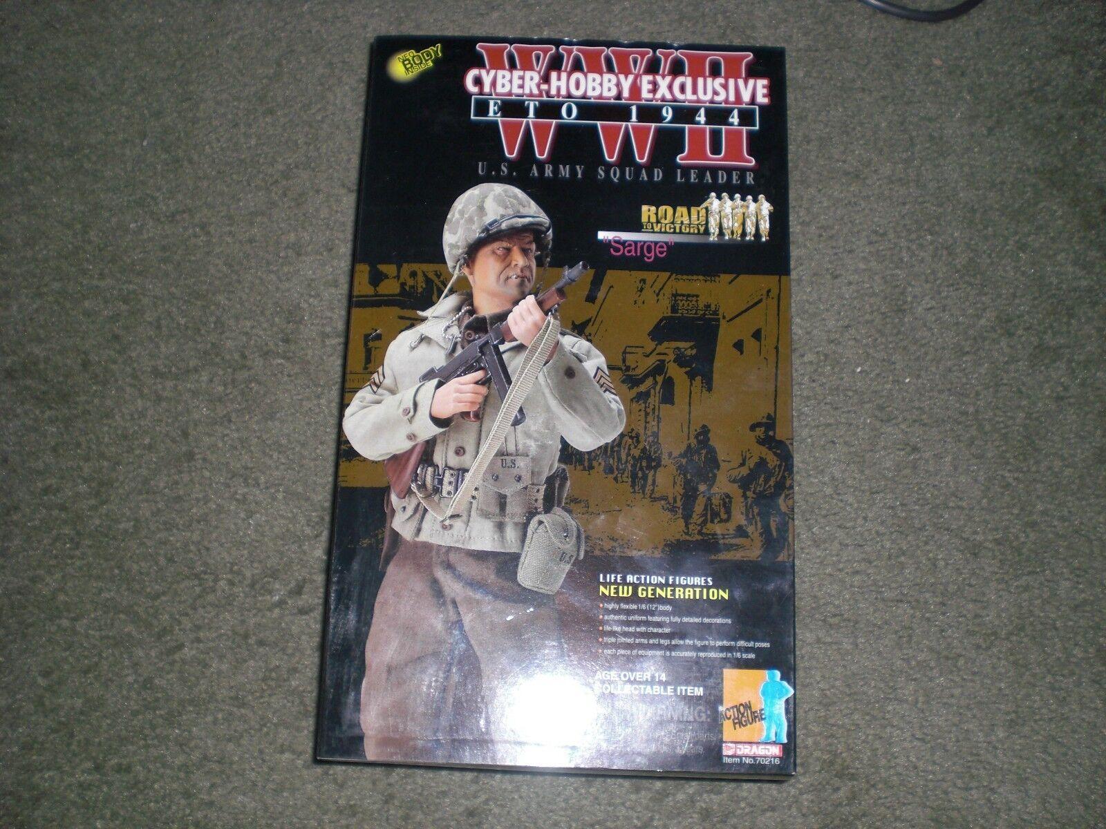 DRAGON CYBER HOBBY  SARGE  FIGURE NIB US ARMY SQUAD LEADER