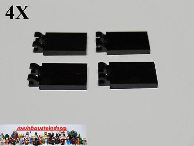 Brown  NEU 2X Lego 30350 Platte Fliese Fahne Tile 2X3 mit 2 Clips Rotbraun Red