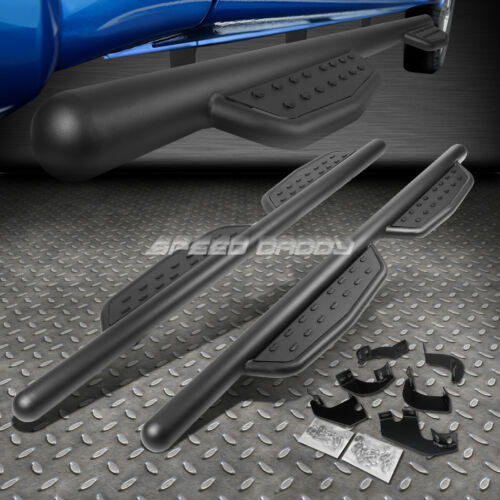 "FOR 05-17 TACOMA EXTENDED CAB 3/""MATTE BLACK SIDE STEP BAR NERF RUNNING BOARD"