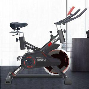 Dettagli Su Bici Da Spinning Bike Spinbike Bicicletta Cyclette Fitness Volano 18kg Attenti