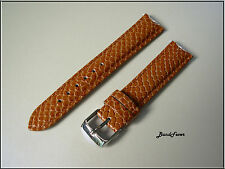 18mm Brown Python EMBOS Genuine Leather Watch Band,Strap,Interchangeable