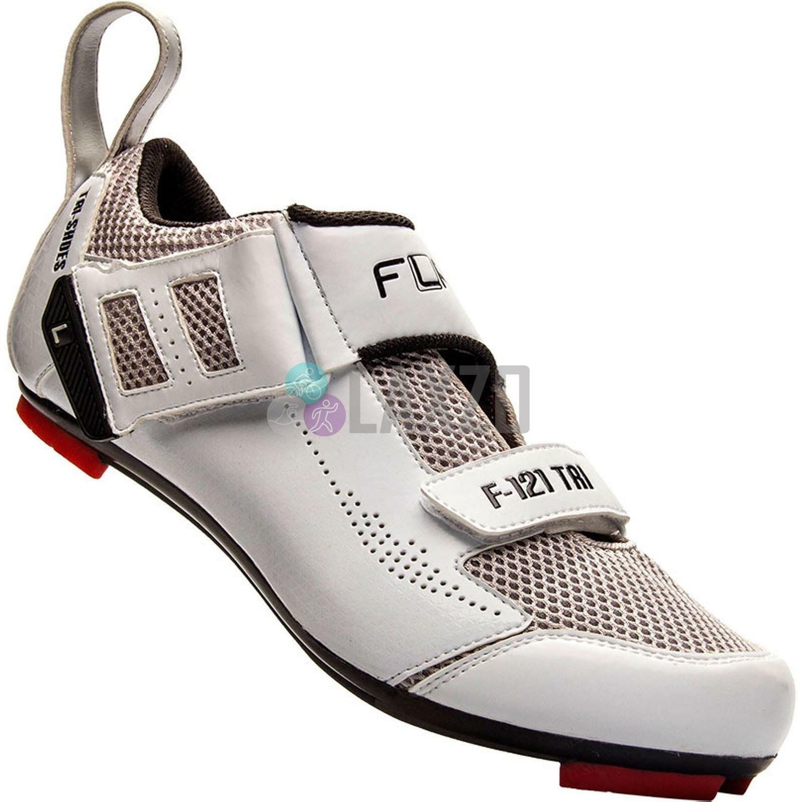 Cycling FLR F-121 Triathlon zapatos MTB and Road Bike  Talla 43 in blanco  venta de ofertas