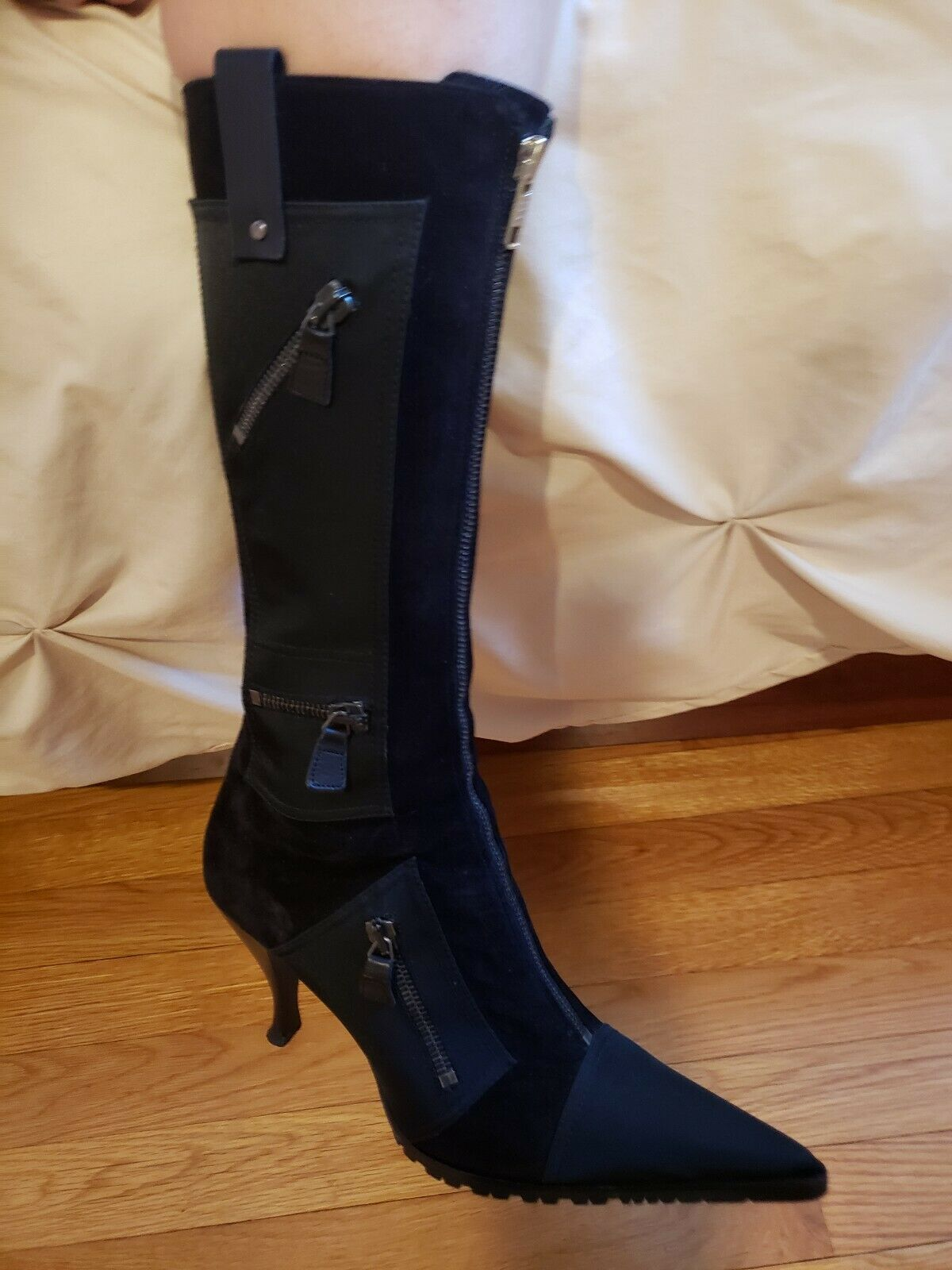Bottes noires. Vero Cuoio Chaussures Femme Bottes Alerto Gozzi Taille 6 (36.5)