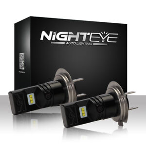 Nighteye-H7-160-W-Auto-LED-Luz-de-Niebla-Bombillas-Lampara-Conduccion-Coche-DRL-6500K-Xenon-Blanco