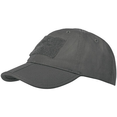 Helikon Mens Baseball Cap Folding PolyCotton Ripstop Duty Patrol Hat Shadow Grey