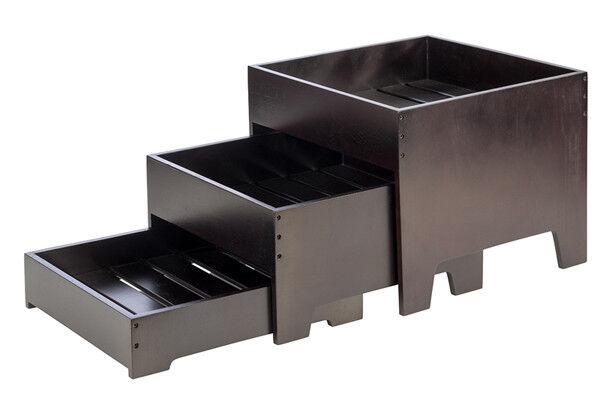 Buffetgestell Buffetleiter Etagere Serviergestell 3-teilig 40 x 40 40 40 x 33 cm Wenge f7e8ae