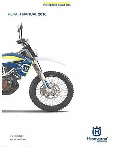husqvarna workshop service manual 2016 701 enduro ebay rh ebay com husqvarna motorcycle manuals pdf husqvarna motorcycle manuals pdf