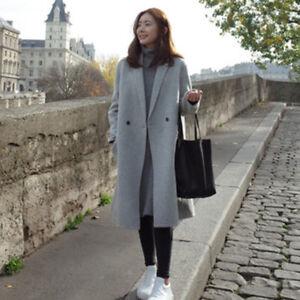 98cde6ca279 Image is loading Vogue-Women-Winter-Korean-Long-Coat-Jacket-Windbreaker-