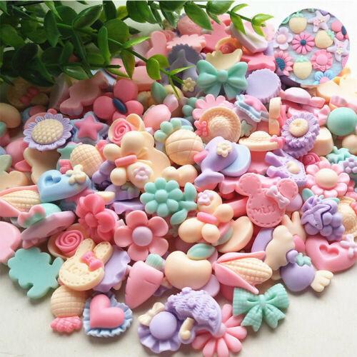 Craft Mix Flatback Diy Button 3D Flower Resin Scrapbook Phonecover Lots