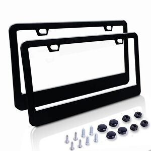 Image Is Loading 2 Pcs Metal Stainless Steel License Plate Frames