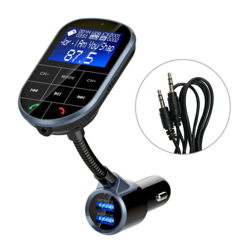 Wireless Bluetooth FM Transmitter Radio Car Kit MP3 Music Player + 2 USB Charger