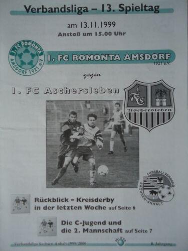 FC Aschersleben 1 Programm 1999//00 FC Romonta Amsdorf