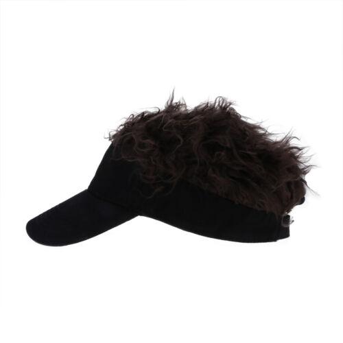 Einstellbar Sommer Baseballkappe Unisex Hip-Hop Baseballcap Hat mit Perücke Gift