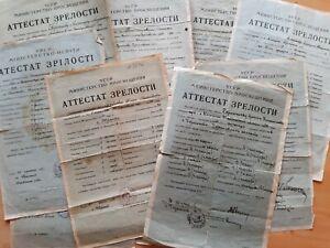 Abitur-Gymnasium-Schule-UdSSR-Zeugnis-Zertifikat