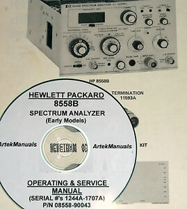 Details about HP 8558B OPS & SERVICE MANUAL (EARLY SERIAL #'S)
