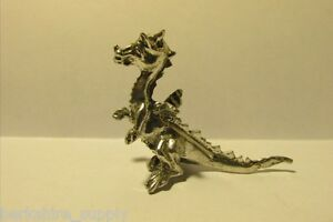 Pewter fantasy dragon figurine made in usa ebay - Pewter dragon statues ...