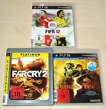 3 PLAYSTATION 3 PS3 SPIELE SAMMLUNG FIFA 12 FAR CRY 2 RESIDENT EVIL 5 GOLD