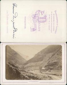 Delon-France-Pyrenees-Casino-du-Pont-du-Roy-Vintage-CDV-albumen-carte-de-visi