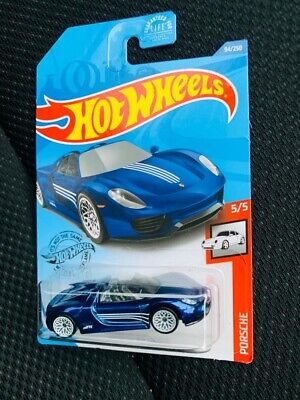 hot wheels super treasure hunt 2020 porsche 918 spyder us card mint condition ebay. Black Bedroom Furniture Sets. Home Design Ideas