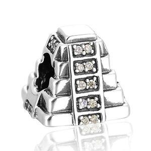 Mayan-Pyramid-Charm-Silver-European-Charm-Fits-Charm-Bracelet-Jewellery