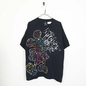 WALT DISNEY WORLD Mickey Mouse T Shirt Tee Black | XL
