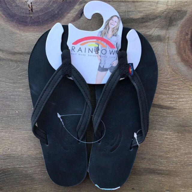 a4c21f51194 Rainbow Sandals Black 301 Premier Leather Flip Flop Narrow Strap ...