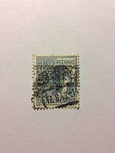 Briefmarke Deutsche Post Wert 12 Pfennig Us And British Zone 1948