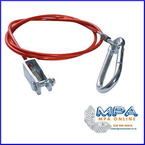 Universal Coupling Breakaway safety Cable for Braked Trailers /& Caravans