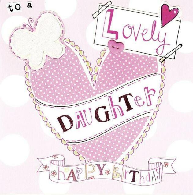 Happy Birthday Lovely Daughter Paper Salad Greeting Card Cards Blank Inside