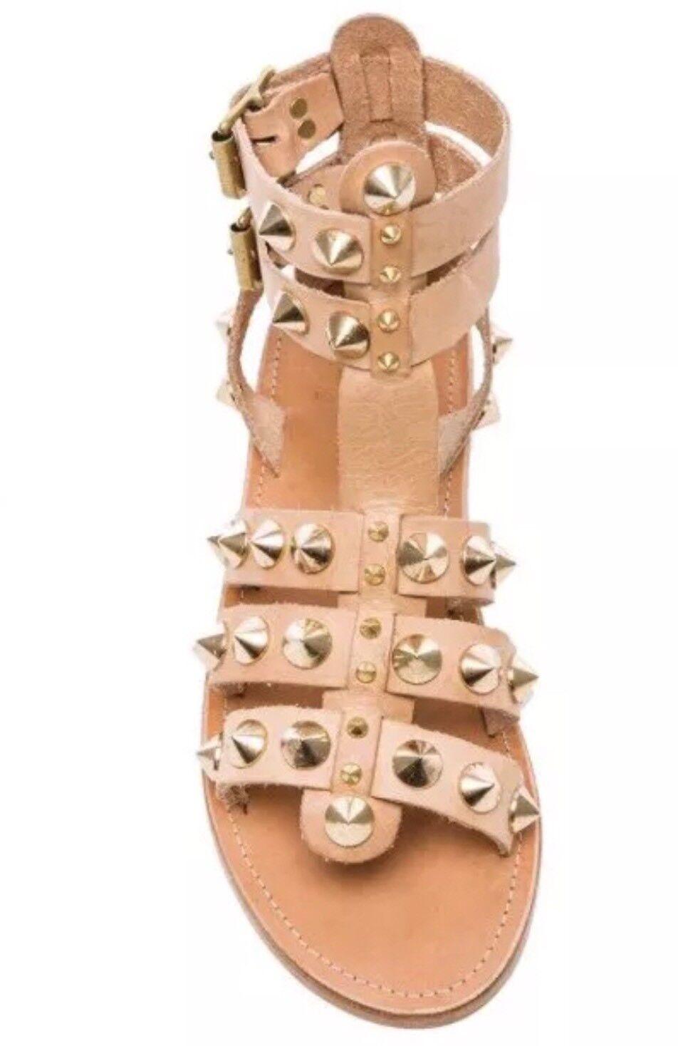 308 Authentic Anine Bing Leder Studded Sandale 10