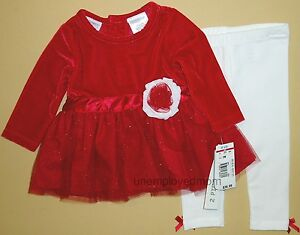 Jelly the Pug Christmas Holiday Red and White Lisa Dress and Legging Set