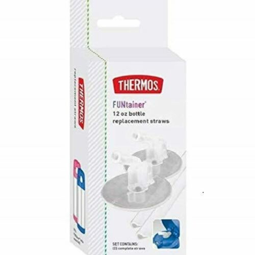 New Thermos Replacement Straws Clear Funtainer Bottle 12 Ounce Soft Silicone