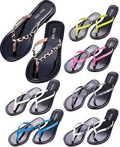 New-Womens-Flip-Flops-Shoes-Thong-Flat-Beach-Sandals-Slipper-Size-6-7-8-9-10