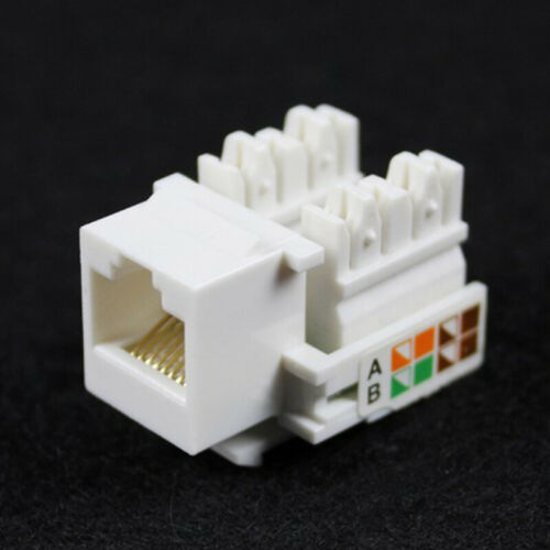 Q2 New Coupler Plug Punch Keystone Network Ethernet Lan 8p8c 10x End Jack Rj45