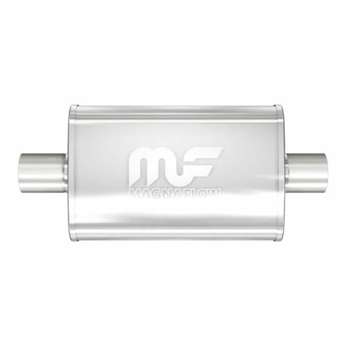 Magnaflow Muffler SS 18 Length 4 X 9 Oval 3 inch Center inlet Outlet 11249