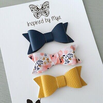 3x Headband Baby Girl Toddler Newborn Bow Lace Leather Nylon Hair Accessory