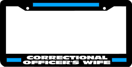CORRECTIONAL OFFICER/'S WIFE thin blue line License Plate Frame