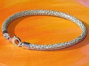 ladies 6mm Turquoise leather /& sterling silver bracelet by Lyme Bay Art. Mens