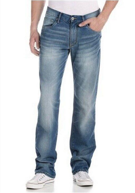 4wards 4wards 4wards Jeans W30 L34 Nuovo Uomo Blu Usato Pietra Pantaloni in Denim Dritto 3f9ff7
