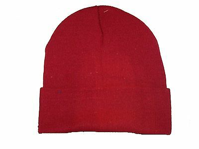 Knit Cuffed Beanie Scull Hat Ski Cap Solid Colors 021242