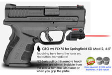 """ArmaLaser GTO for Springfield XD Mod 2 4-5"""" RED Laser Sight w/ FLX75 Grip On/Off"""