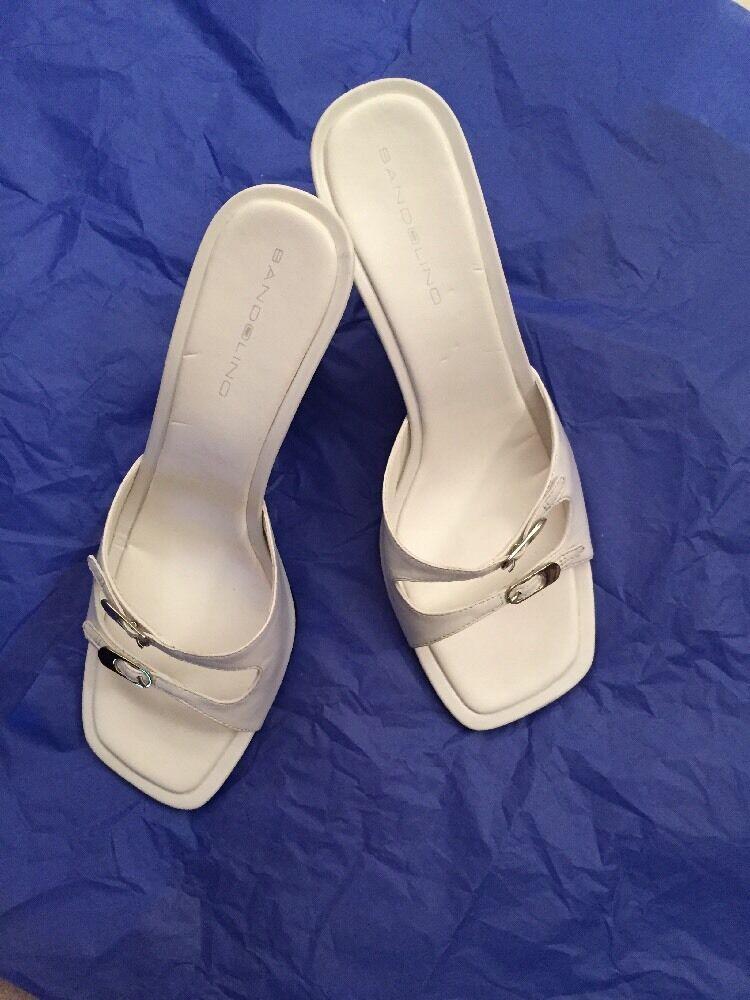 Bandolino White Leather Wedge Sandal New in Box - Gorgeous!!!