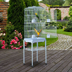 """PawHut 63"""" Large Pet Bird Cage Play Top Parrot Finch Macaw Cockatoo w/Wheels New"""