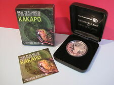 2009 NEW ZEALAND KAKAPO BIRD 1oz SILVER PROOF (Wildlife/Animal) COIN