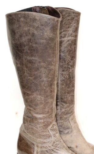 5 Gris Sendra Up Taille Zip 5 High Knee Brun Distressed Bottes rdQsht